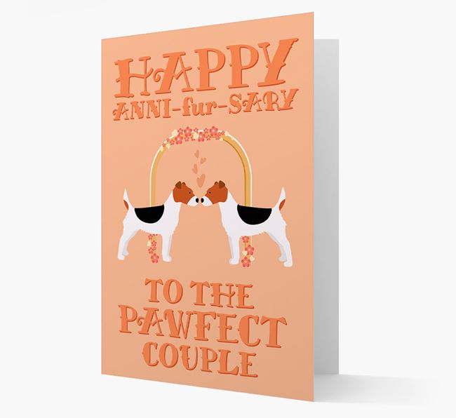 'Happy ANNI-fur-SARY' Card with Fox Terrier Icon