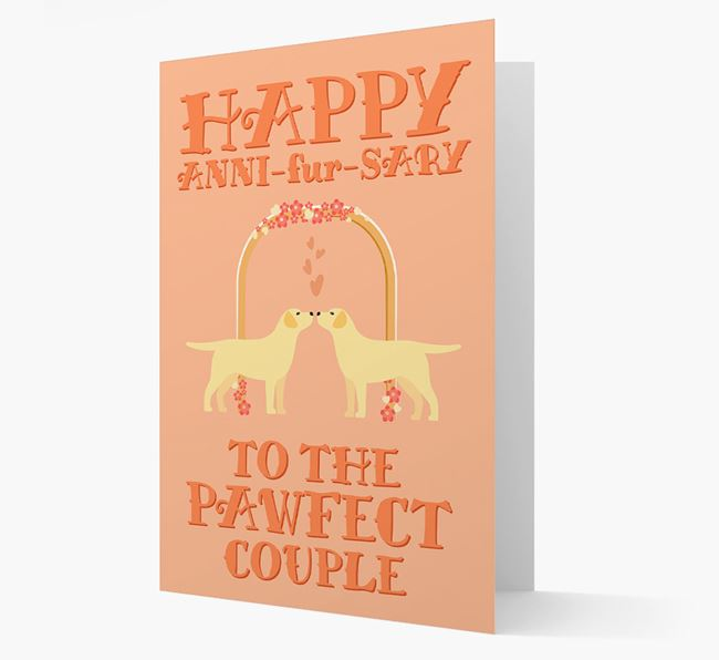 'Happy ANNI-fur-SARY' Card with Dog Icon