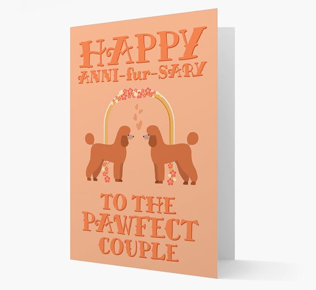 'Happy ANNI-fur-SARY' Card with Poodle Icon