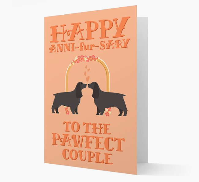 'Happy ANNI-fur-SARY' Card with Springer Spaniel Icon