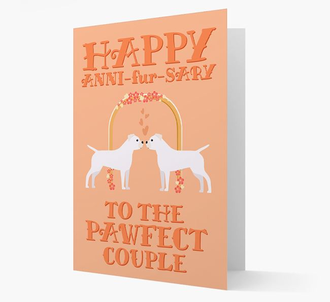 'Happy ANNI-fur-SARY' Card with Staffy Jack Icon