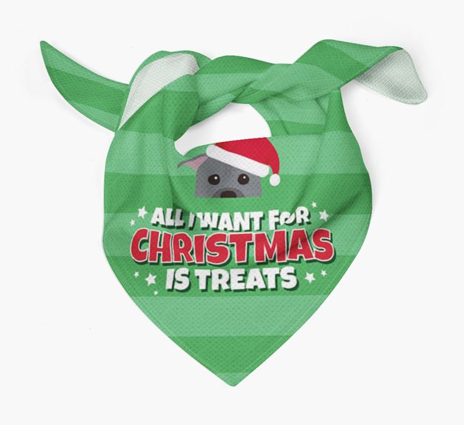 'All I Want for Christmas' - Personalised American Pit Bull Terrier Bandana