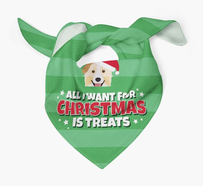 'All I Want for Christmas' - Personalised Australian Shepherd Bandana