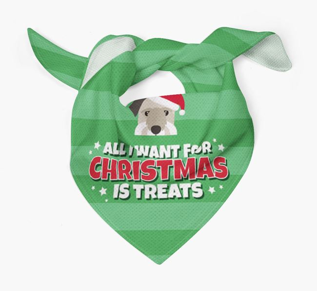 'All I Want for Christmas' - Personalised Cesky Terrier Bandana