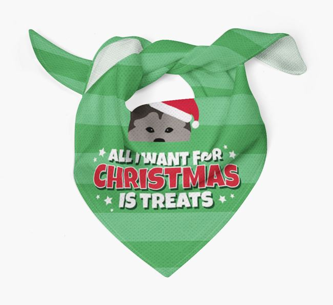 'All I Want for Christmas' - Personalised Chusky Bandana