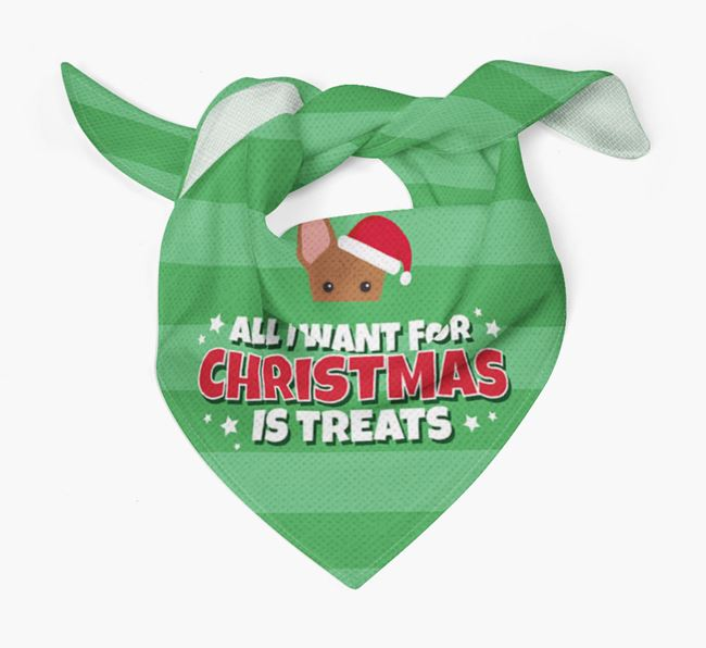 'All I Want for Christmas' - Personalised Cirneco Dell'Etna Bandana