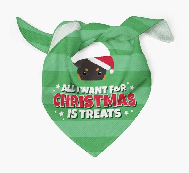 'All I Want for Christmas' - Personalised English Toy Terrier Bandana