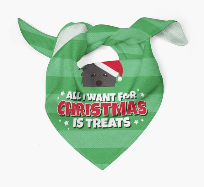 'All I Want for Christmas' - Personalised Glen Of Imaal Terrier Bandana