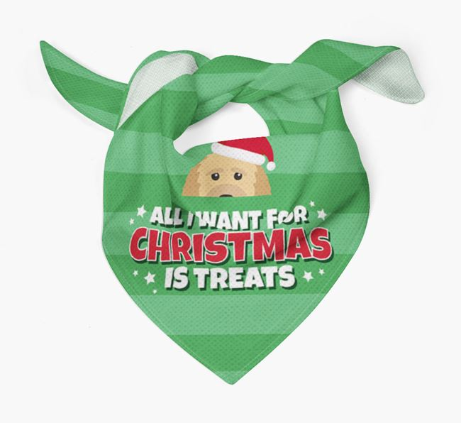 'All I Want for Christmas' - Personalised Goldendoodle Bandana