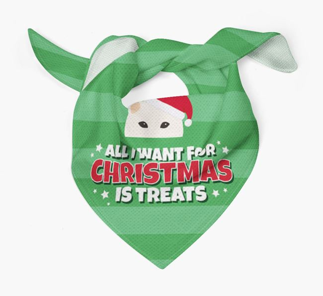 'All I Want for Christmas' - Personalised Japanese Shiba Bandana