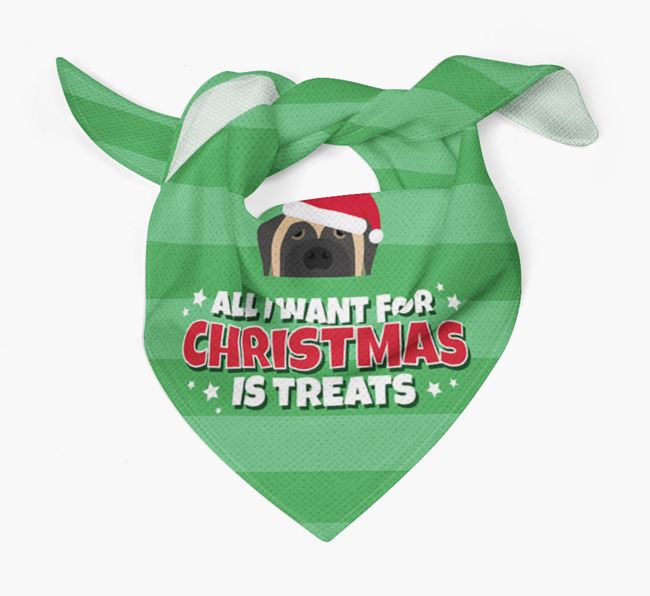'All I Want for Christmas' - Personalized Mastiff Bandana