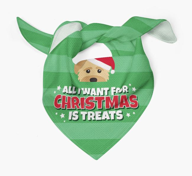 'All I Want for Christmas' - Personalized Mixed Breed Bandana