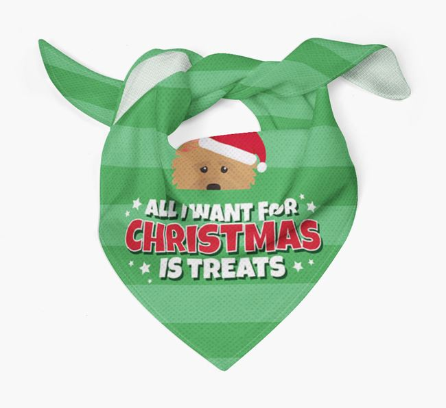'All I Want for Christmas' - Personalised Norwich Terrier Bandana