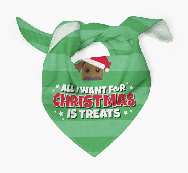'All I Want for Christmas' - Personalised Patterdale Terrier Bandana