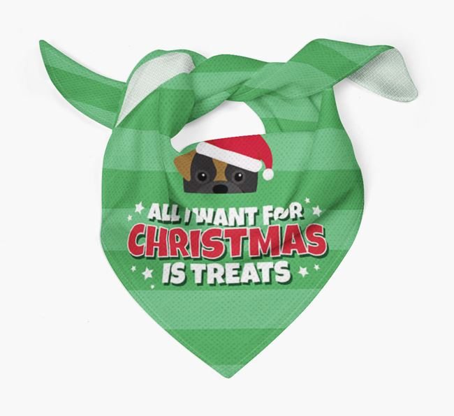 'All I Want for Christmas' - Personalised Pugapoo Bandana
