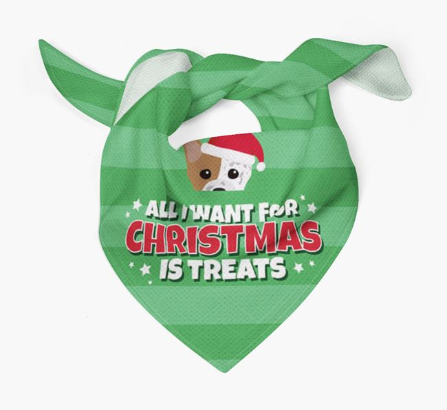 'All I Want for Christmas' - Personalised Staffordshire Bull Terrier Bandana