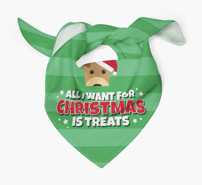 'All I Want for Christmas' - Personalised Welsh Terrier Bandana