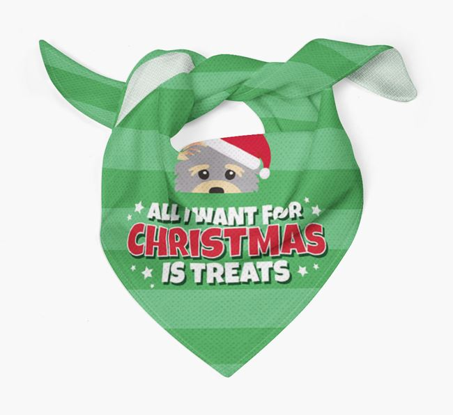 'All I Want for Christmas' - Personalised Yorkshire Terrier Bandana