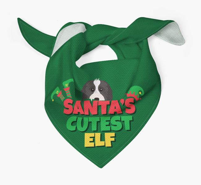 'Santa's Cutest Elf' - Personalized Cavapoo Bandana