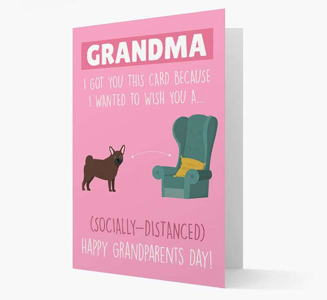 'Socially Distanced Happy Grandparents Day' Card with Frug Icon