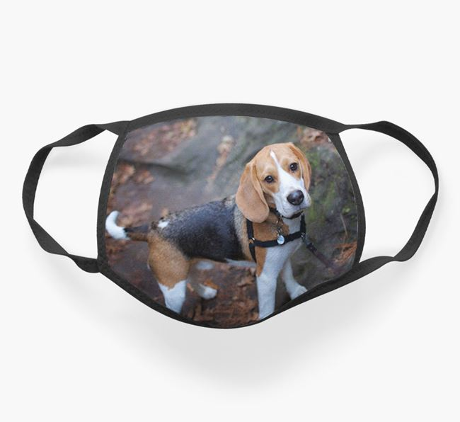 Photo Upload Face Covering - Personalised with your Beagle