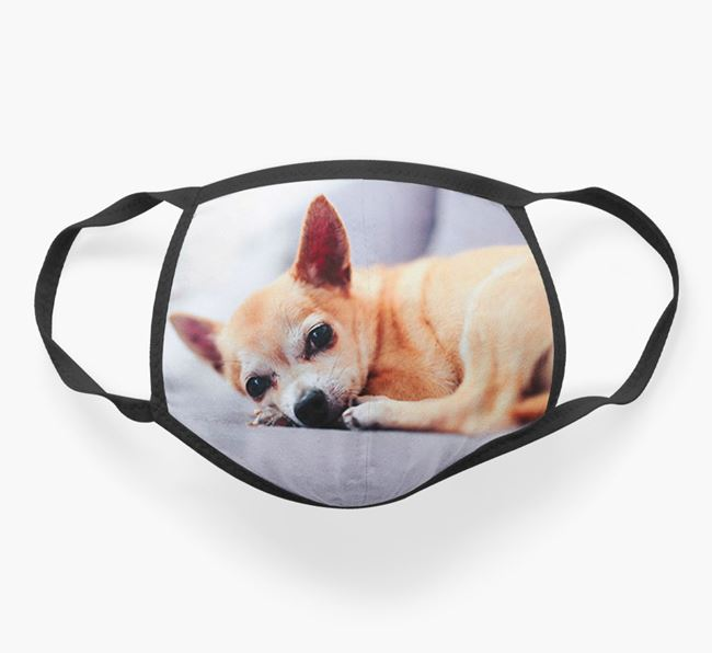 Photo Upload Face Covering - Personalized with your Chihuahua