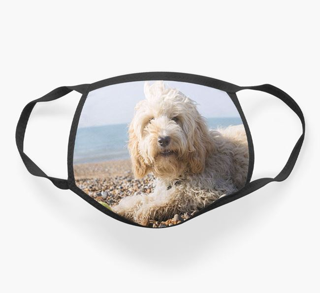 Photo Upload Face Covering - Personalised with your Cockapoo