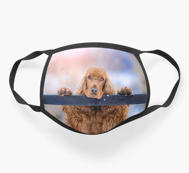 Photo Upload Face Covering - Personalised with your Cocker Spaniel