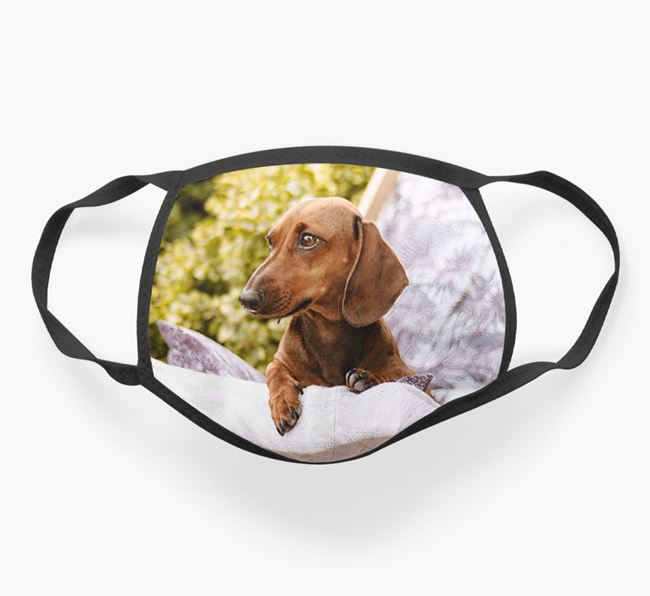 Photo Upload Face Covering - Personalized with your Dachshund