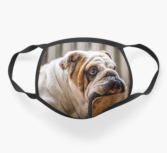 Photo Upload Face Covering - Personalised with your English Bulldog
