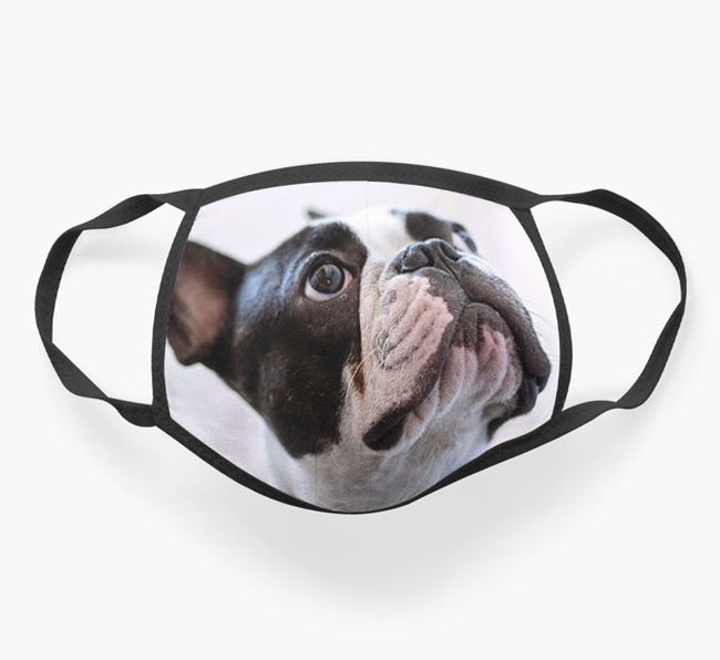 Photo Upload Face Covering - Personalised with your French Bulldog