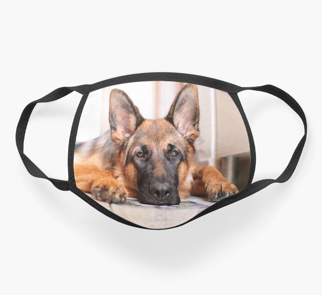 Photo Upload Face Covering - Personalised with your German Shepherd