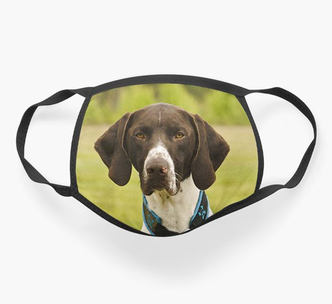 Photo Upload Face Covering - Personalised with your German Shorthaired Pointer