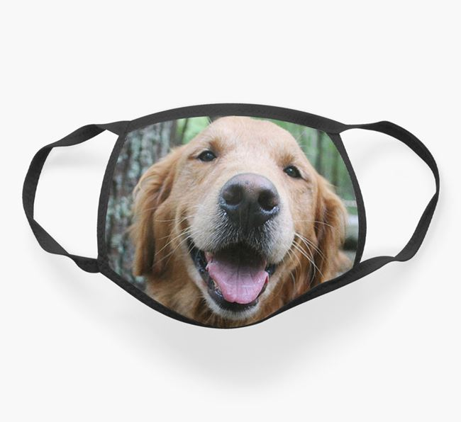 Photo Upload Face Covering - Personalised with your Golden Retriever