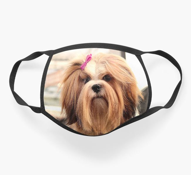 Photo Upload Face Covering - Personalised with your Lhasa Apso