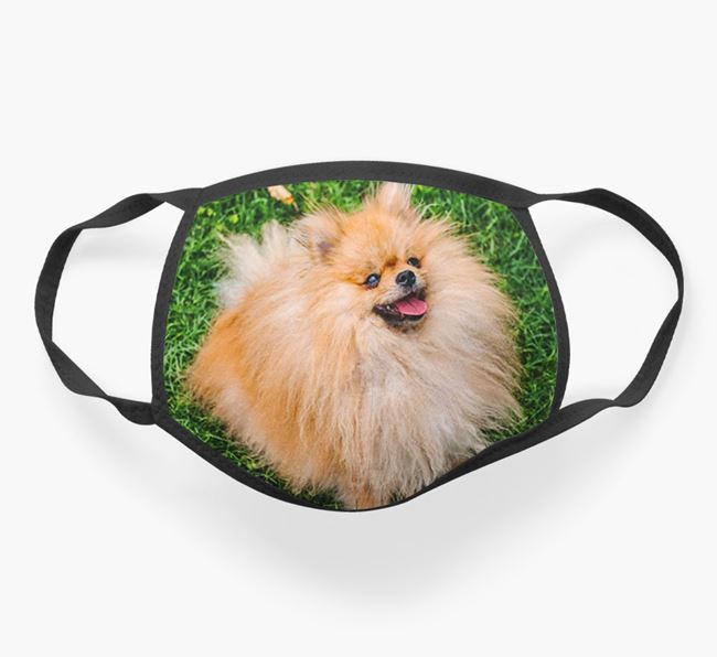 Photo Upload Face Covering - Personalised with your Pomeranian