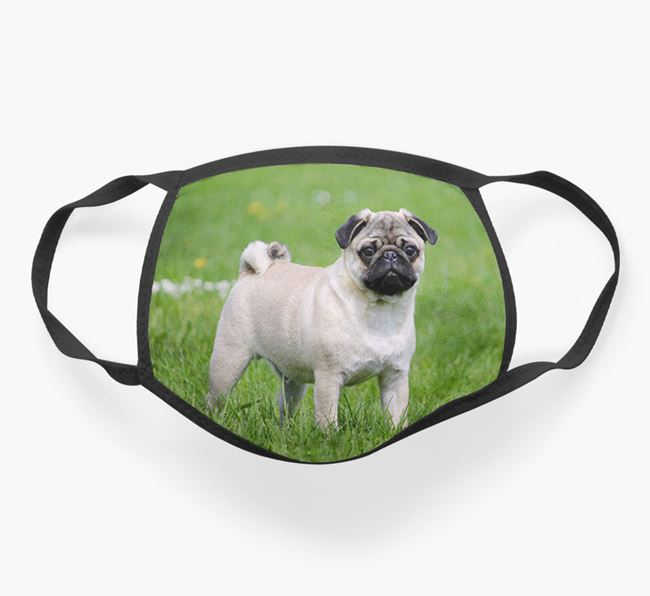 Photo Upload Face Covering - Personalised with your Pug