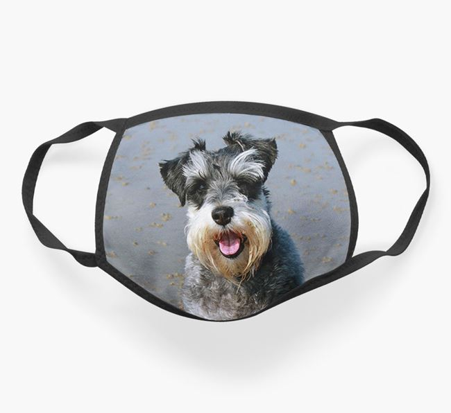 Photo Upload Face Covering - Personalised with your Schnauzer