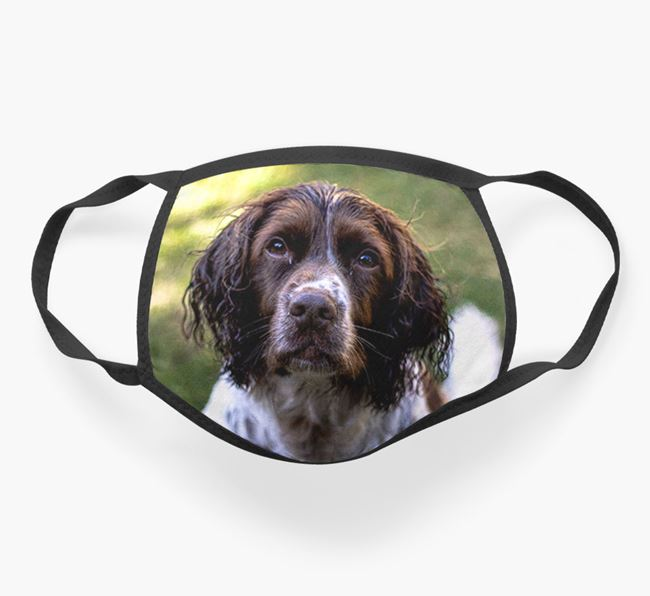 Photo Upload Face Covering - Personalised with your Springer Spaniel