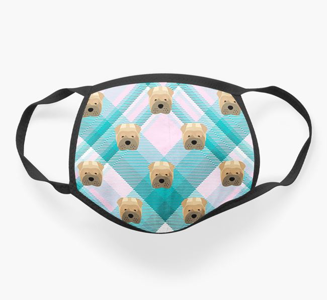 'Tartan' Face Covering with Dog Icons