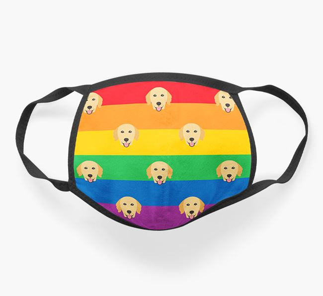 'Rainbow' Face Covering with Golden Retriever Icons