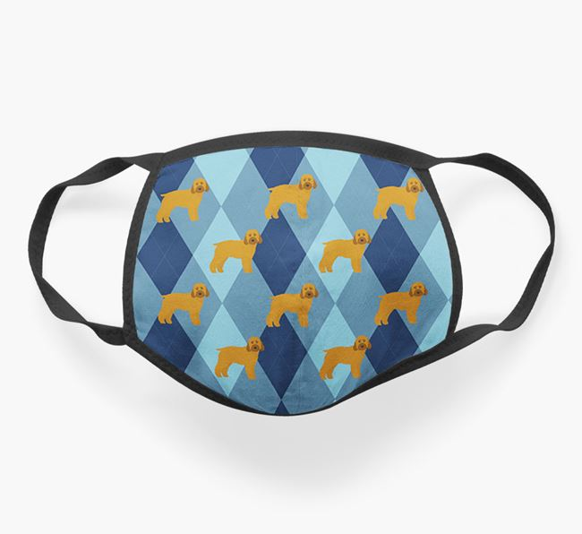 'Plaid Design' - Face Mask with Cockapoo Icons