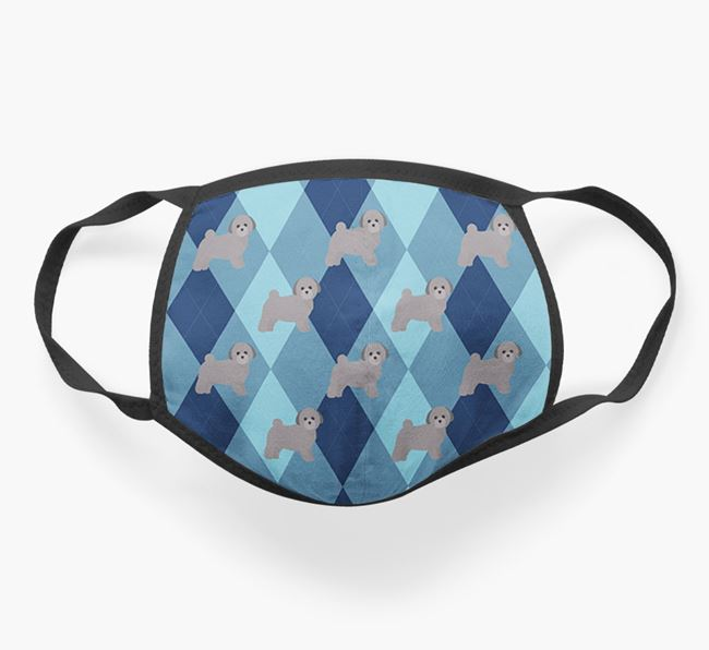 'Plaid Design' - Face Mask with Toy Poodle Icons