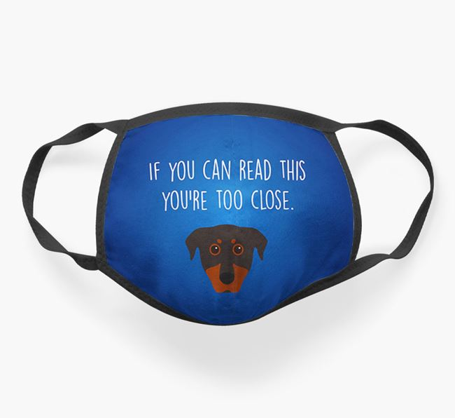 'If You Can Read This…' - Face Covering with Beauceron Icon