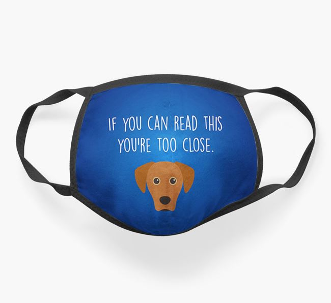 'If You Can Read This…' - Face Covering with Blue Lacy Icon