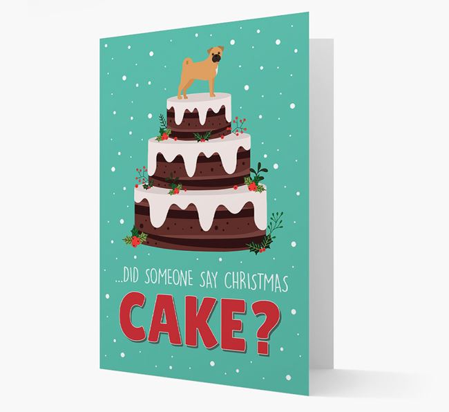 'Did Someone Say Christmas Cake?' - Personalized Jug Christmas Card