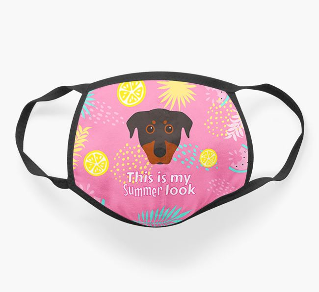 'This Is My Summer Look' - Face Mask with Beauceron Icon