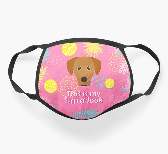 'This Is My Summer Look' - Face Mask with Blue Lacy Icon