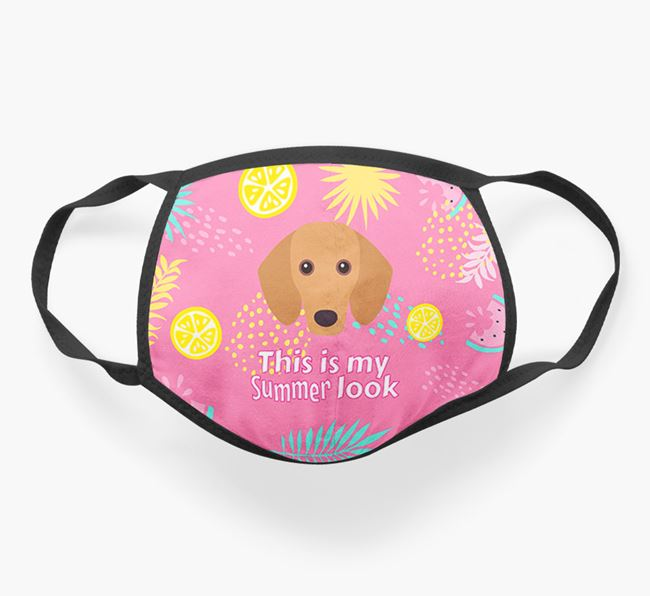 'This Is My Summer Look' - Face Mask with Dachshund Icon