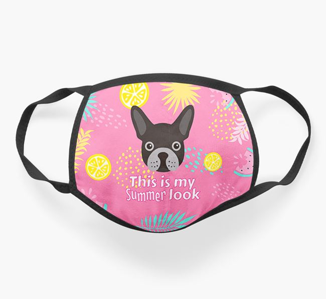 'This Is My Summer Look' - Face Mask with French Bulldog Icon